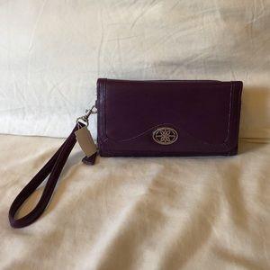 Handbags - Purple faux leather wristlet wallet/clutch